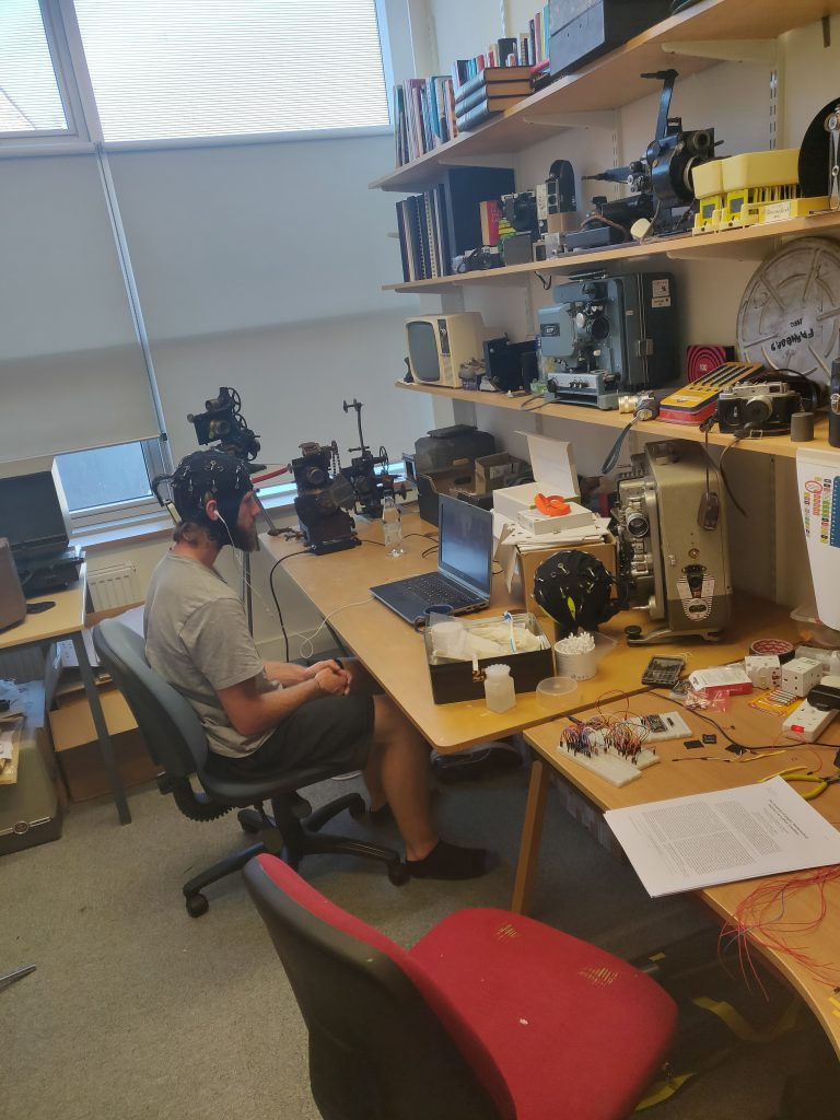 Image of participant undertaking an experiment in the dqpb lab