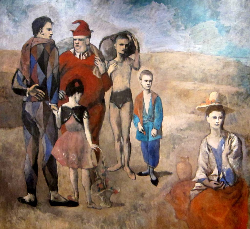 Image of the painting Family of Saltimbanques by Picasso, 1905
