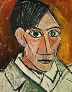 Painting by Picasso, Self Portrait, 1907