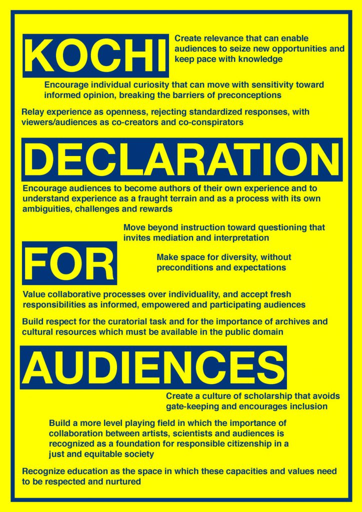 Kochi Declaration for Aufdiences poster